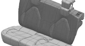 armrest – rear seat back